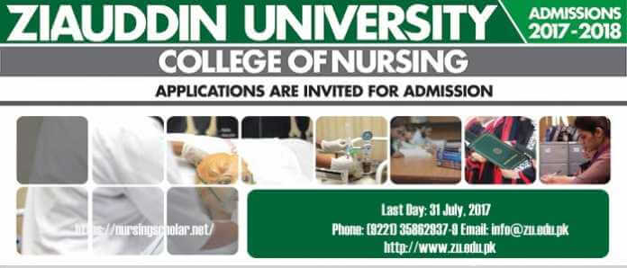 Admission Open in Ziauddin University College of Nursing