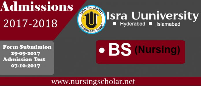 Isra School of Nursing Admissions 2017 For BS Nursing