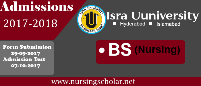 Isra School of Nursing Admissions 2017 For BS Nursing