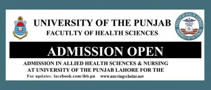 Nursing Admissions in Punjab University