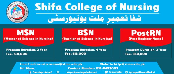 Admissions Open in Shifa College of Nursing 2019 | Nursing