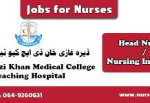 Nurses Jobs in DHQ Hospital Dera Ghazi Khan