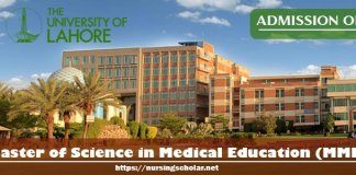 Master of Science in Medical Education MME Admission Open 2017