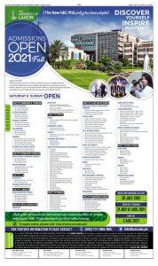 Lahore School Of Nursing Admission 2021