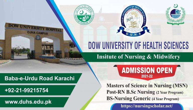 Dow Institute of Nursing And Midwifery |Admission 2021