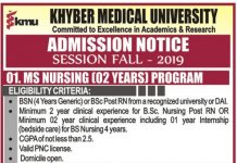 KMU Institute of Nursing Admission 2019.jpg