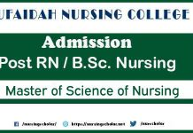 Rufaidah Nursing College Admissions for Post RN, BS Nursing and Ms Nursing