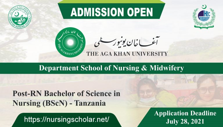 Aga Khan Schools of Nursing & Midwifery Admission open for Session 2020-2021