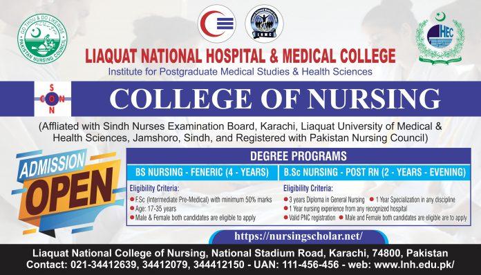 Liaquat National College of Nursing Admissions